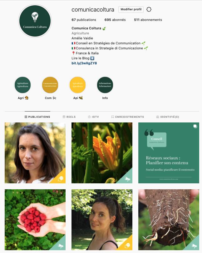 feed instagram comunica coltura